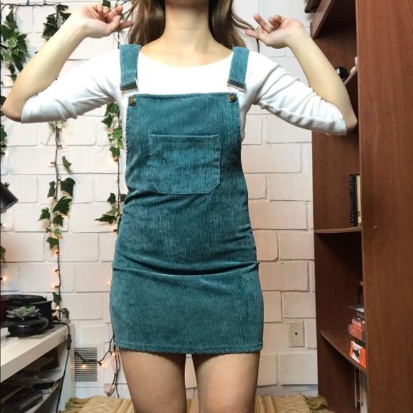aaca7690d79 Corduroy overall mini dress. M 5ad81c9b8df470f8c4ef2eb8